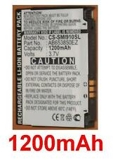 Battery 1200mAh type AB653850EZ AB653850EZBSTD For Samsung SGH-I900 Omnia