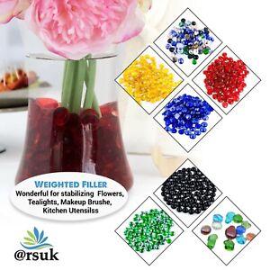Decorative Glass Pebbles Beads Stones Gems for Vases Aquarium Garden Fish Tank