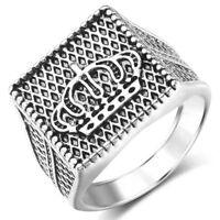 Men's Biker Finger Rings Stainless Steel Gothic Punk Titanium Band Thumb Ring