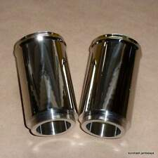 Norton P11 750 Fork Shroud Extension Cover SET STAINLESS matchless g85 02-8051
