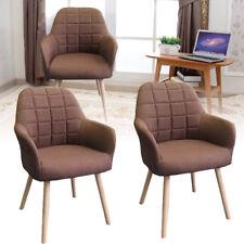 2er Set Esszimmerstühle Konferenzstuhl Design Stuhl Küchenstuhl Holz Braun Stuhl