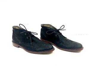 Banana Republic Ortholite Mens Chukka Boots Size 9.5 Black Leather Dress Shoes