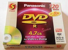 PANASONIC DVD-R x 50 discs 120mins 4.7GB Recordable Video/ Data 1-8x speed