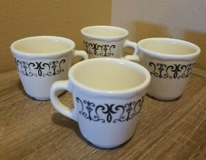 Set of 4 Homer Laughlin HLC USA Coffee Cup Restaurant Ware
