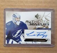 2018-19 UD SP Louis Domingue Authentic Signatures #AS-LD Tampa Bay Lightning