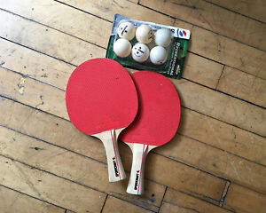 Sportcraft Ping Pong Paddles Set of 2 and 6 Table Tennis Balls