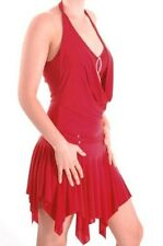 Womens Plain Sleeveless Halter Neck Flared Swing Casual Party Evening Dress
