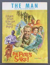 The Man Sheet Music Piano Vocal For Petes Sake Billy Graham Carmichael 1966