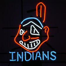 "New Cleveland Indians Chief Neon Light Sign 24""x20"" Wall Decor Beer Bar Lamp"