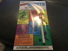 Factory sealed Lee Publications More Sports  Invisible Ink Quiz and Game Book.