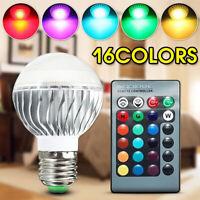 E27 E26 E14 B22 GU10 RGB Led Bulb Lamp Magic Spot Light 16 color Remote Control
