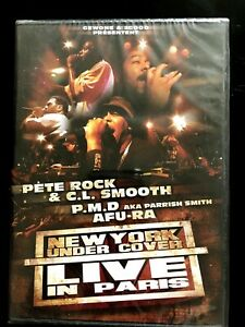 DVD RAP US - New York Under Cover - Live in Paris - Pete Rock & CL Smooth/ PMD