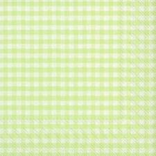 "20 Servietten""Vichy spring green""klass.Karo Design*grün-weiß*33x33*Frühling"