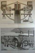 Lot Gravures Antique Print XVIIIe Fer Grosses Forges 6e section Diderot In-4°