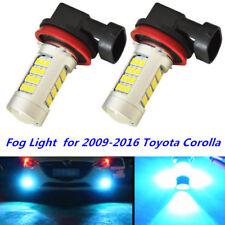 100W LED Fog Light 8000K Ice Blue H16 H11 for 2009-2016 Toyota Corolla