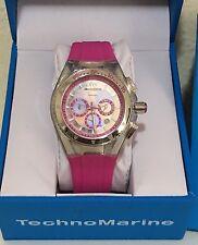 TechnoMarine Cruise Original Chronograph Lipstick Hot Pink Womens Watch 111031