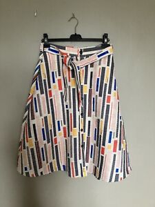 Hutch for Anthropologie Button Down Skirt Size 8