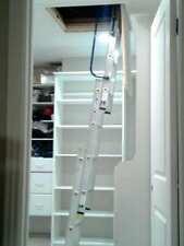 Werner Compact Aluminum Attic Ladder 250 Lb 18x24 30x30 Opening Range