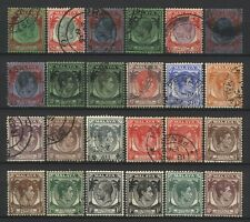 Straits Settlements Collection 24 KGV / KGVI Malaya Stamps Mostly Used