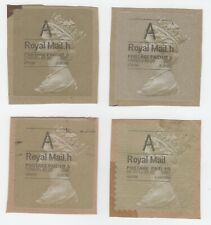 """Great Britain A - Four Used Machin Head Horizon """"A"""" Labels, on Paper"""