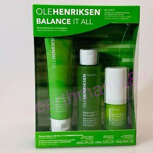 BNIB ~ OLE HENRIKSEN Balance/oil Control Set ~ Cleanser/toner/moisturizer