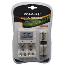 Carica Batterie Pile Stilo Ministilo AA AAA 9v A-613 + 4 Pile RIcaricabili goc
