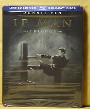 NEW IP MAN TRILOGY BLU-RAY STEELBOOK! 3 DISC SET! BEST BUY EXCL.FACTORY SEALED!