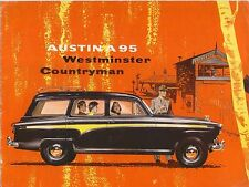 Austin A95 Westminster Estate 1956-59 Original UK Sales Brochure Pub No 1370/C