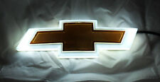 NEW For Chevy Backlit Gold &  White LED Bowtie Badge Emblem Lamp Free Ship