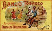 BLACK AMERICANA BANJO TOBACCO DANCING HEAVY DUTY USA MADE METAL ADVERTISING SIGN