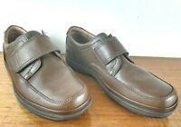 Clarks Swift Turn Brown Leather Riptide Fastening shoes Men Wide Fit UK7H