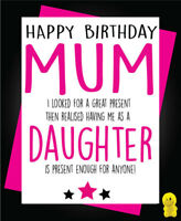 Funny Rude Birthday Card Mum Dad Wife Friend Daughter Sister  Giving a sh*t C436