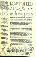 How To Feed A Crowd At Church Suppers Jones McDuffee Stratton Kitchen Ad CPB32