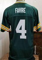 NFL Green Bay Packers Brett Favre #4 Green Jersey Reebok NFL Equipment YOUTH LG