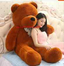 56in.Giant Huge Big Dark Brown Teddy Bear Plush  Soft Toys Doll Birthday Gift US