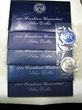 Lot of 5 - 1971 S Eisenhower Ike SILVER Dollars