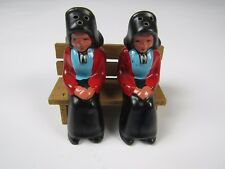 Vintage Nuns sitting on a bench Salt & Pepper shaker set!