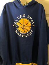 Golden State Warriors Vintage Embroidered Starter Blue Yellow Sweatshirt Size XL