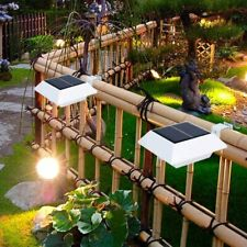 Solar Gutter Light Outdoor Garden Fence Light Patio Yard Wall Pathway Lamp 6LEDs