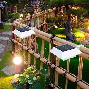Solar Gutter Light Outdoor Garden Fence Light Patio Yard Wall Pathway Lamp 6LEDs