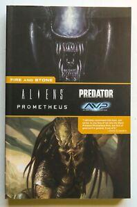 Fire and Stone Aliens Prometheus Predator Dark Horse Graphic Novel Comic Book