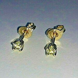 NEW Genuine 9ct 9k 375 Yellow Gold Ladies Stud Earrings Beautiful Green Peridot