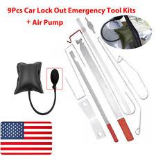 9pcs Car Door Open Unlock Tool Kit Key Lost Lock Out Wedge Emergency Air Pump US