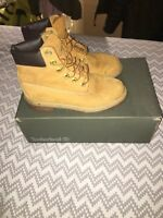 Timberland genuine leather size 4.5 brown womens ladies ankle boots shoes