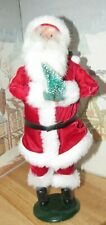 Byers Choice Red Velvet Santa Claus with Mini Christmas Tree 1992 *
