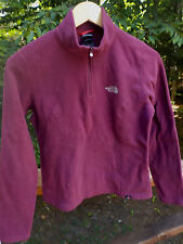 The North Face Women's Ladies S Burgundy Light 1/2 Zip Fleece Jacket Barely Worn