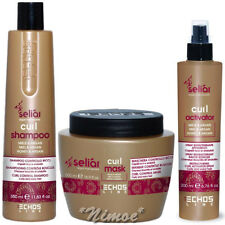 Curl Kit Seliar ® Shampoo 350ml + Mask 500ml + Activator Spray 200ml Echos Line