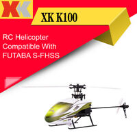 Wltoys XK K100 6CH 3D RC Helicopter Drone BNF Compatible FUTABA S-FHSS VS V977
