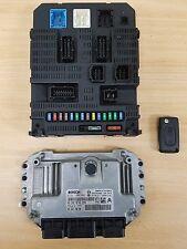 Citroen C3 ignition set BSI Engine ECU Key fuse box 2002 - 2009 NFU 1.6l petrol