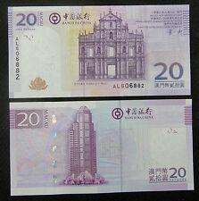 Macao Macao 20 Patacas Billete 2008-8-8 Unc